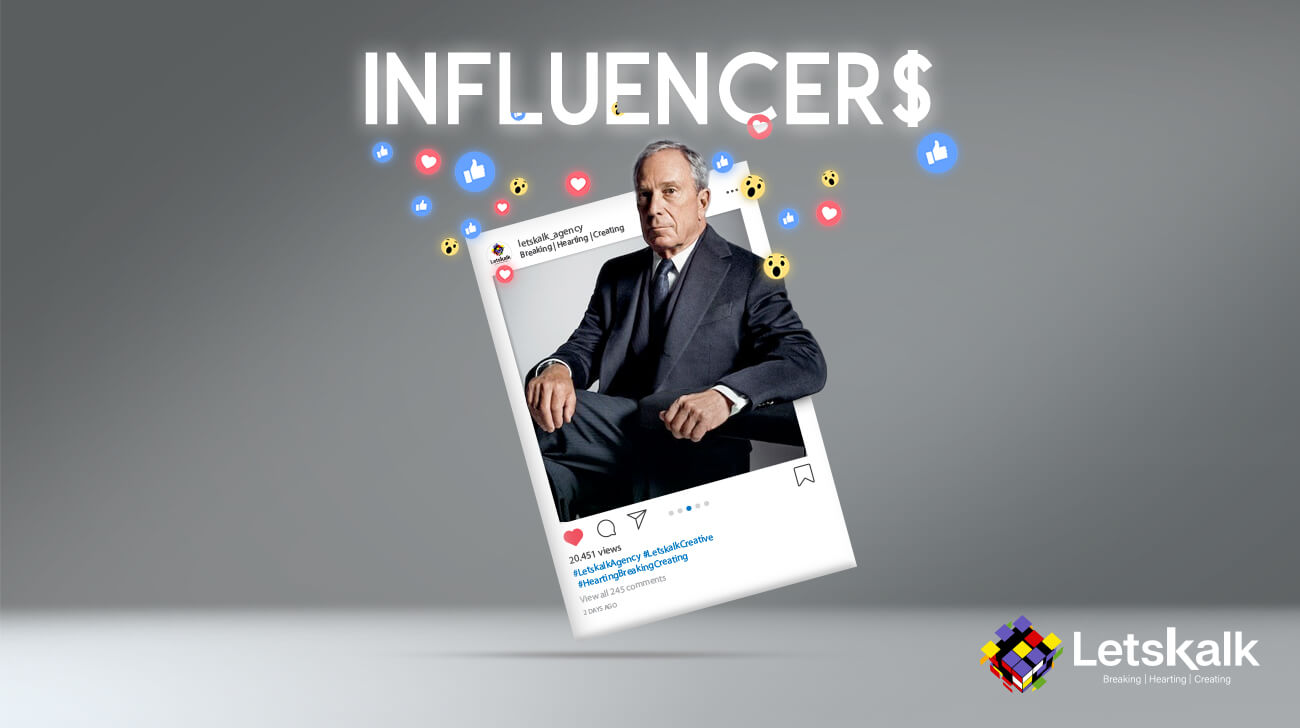 Michael Bloomberg Influencers Facebook